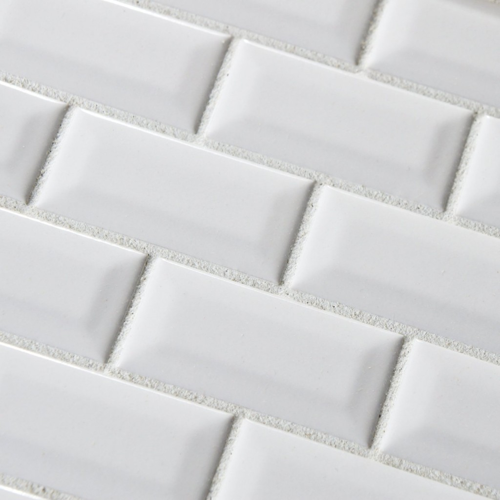 excellent dimensions of subway tile. Buy Pure White Bevel Subway 3x6 Glossy Ceramic  Tile mosaicsandtile com